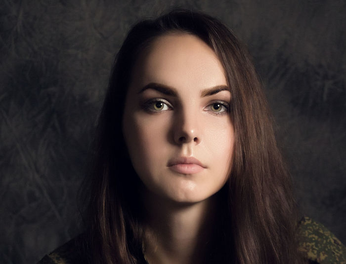 Adult Beautiful Woman Beauty Body Part Close-up Contemplation Focus On Foreground Front View Hair Hairstyle Headshot Human Face Lifestyles Long Hair Looking At Camera One Person Portrait Real People Teenager Women Young Adult Young Women