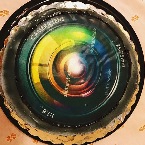 Close-up Indoors  Birthday Cake Camera Lens Photo Cake Red Velvet Cake Dessert Frosting Edible