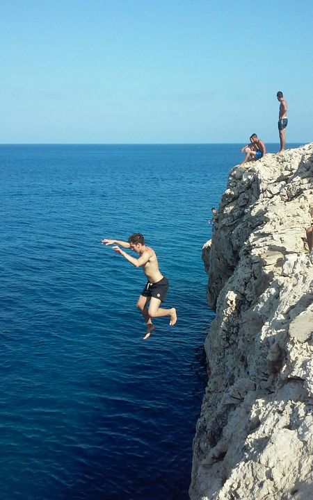Cliff Diving Island People Sea Cliff Jumping Sky Horizon Over Water Cliff Jumping Adventure Adventure Club