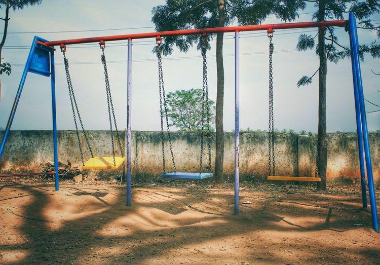 Nostalgia ! Nostalgia Memories Childhood Shutterbug Canonphotography Dslrphotography Playground Swing Outdoors My Best Photo