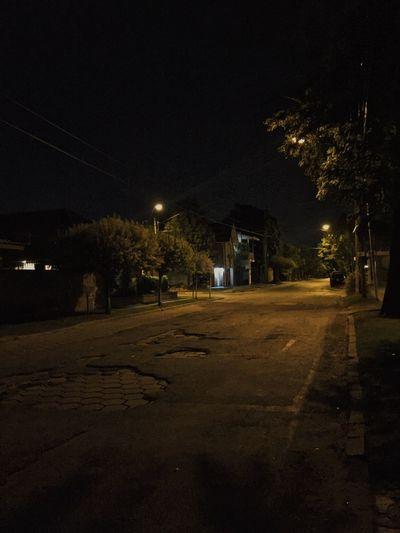 🌚 Night Illuminated Tree Outdoors No People Street Light Sky Nature