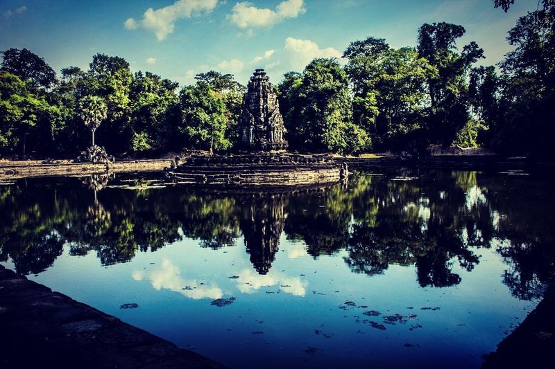 Cambodia Siem Reap, Cambodia Temple Architecture Neak Pean Water Reflection Lake Nature Tree Art Is Everywhere Break The Mold Live For The Story Place Of Heart
