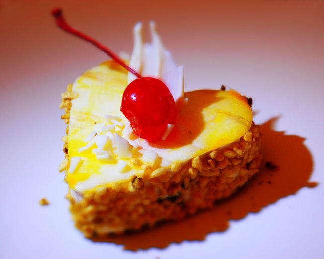 Cherry Valentine's Day  Cherry Cake Cake In The Shape Of A Heart Cherry Love Cake Cherry Hart Cherry Cream