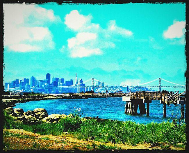 Seeing The Sights San Francisco Baybridge City Skyline Sf Skyline