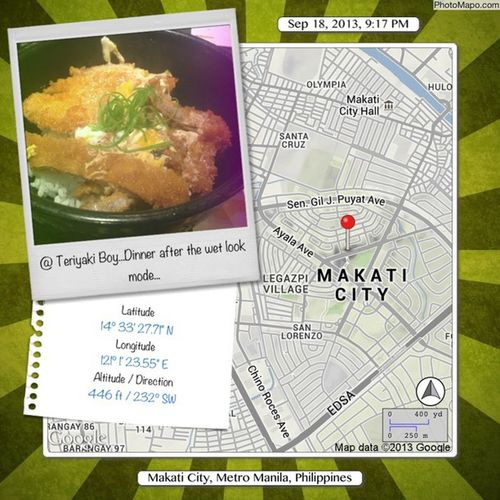 Dinner after the wet look mode @Teriyakiboy... Makaticity Metromanila Philippines TeriyakiBoy dinner katsudon afterworkout