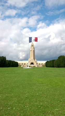 WWI memorial, we must remember they died for us... Verdun Lorraine Ossuary French Douaumont History Grass And Sky No Filter Monuments Wwi