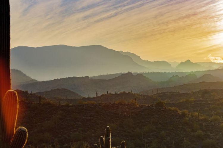 Desert Desert Beauty Deserts Around The World Sunrise Sunrise_Collection EyeEm Best Shots Split Toning Flare Mountain Fog Sky Landscape Mountain Range Arid Landscape Valley