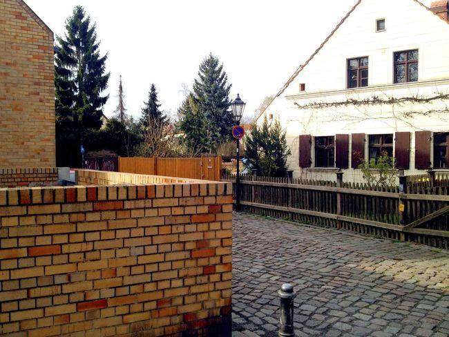 Berlin Neukölln Brick Wall Corner Path Just Around The Corner Cobblestones GERMANY🇩🇪DEUTSCHERLAND@ Lane