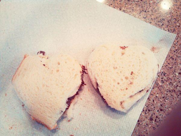 Mine and Nella's heart shaped sandwichs. :)