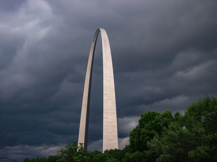 The Arch Arch Cloud - Sky Architecture No People Built Structure Low Angle View Storm Cloud Travel Destinations Storm City St. Louis Day Outdoors Gray St Louis Arch