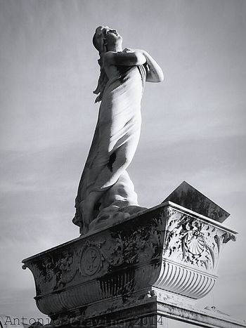 """Angel"". Funeraryart Statue Cemetery Photography Historic Cemeteries Black And White Black & White Cimiteromonumentale Cimitero Pra' Point And Shoot"