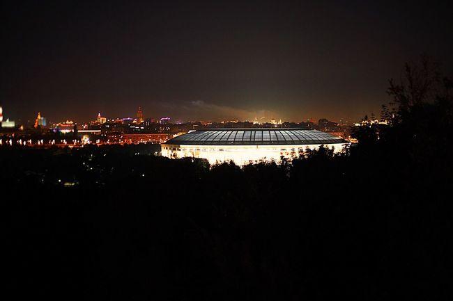 Football Stadium Cityscape Architecture City Night Sky Built Structure Building Exterior