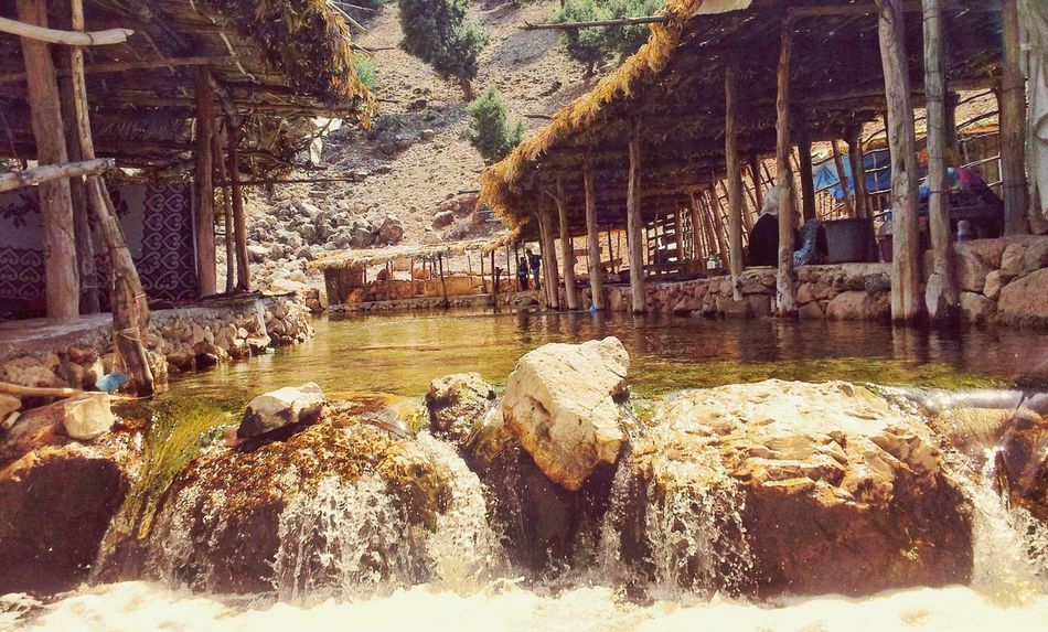 river wood structure Morocco MoroccoTrip Riverside River Waterfront Day No People Outdoors Beach Nature Sky