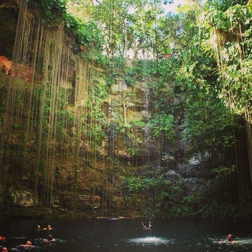 Travel Cenotes Ikkil Chichen Itza Beautiful Landscape