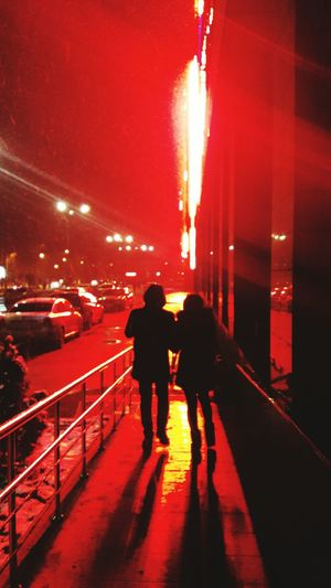 Red Walking