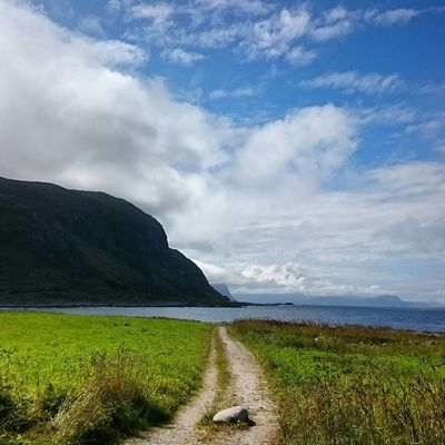 I've been down this road before. Eye4photography  EyeEm Best Shots Clouds And Sky Sea And Sky Nature Landscape Open Edit Rural Scenes Seaside Mountains Norway