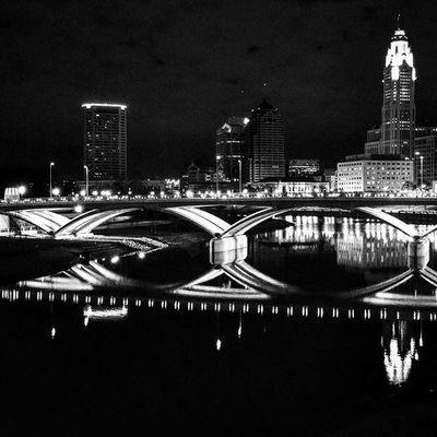 Columbusohio Sciotomile Thanksgivingnight Downtown Blackandwhitephotography Blackandwhite Bnw Insta_bw Monochrome