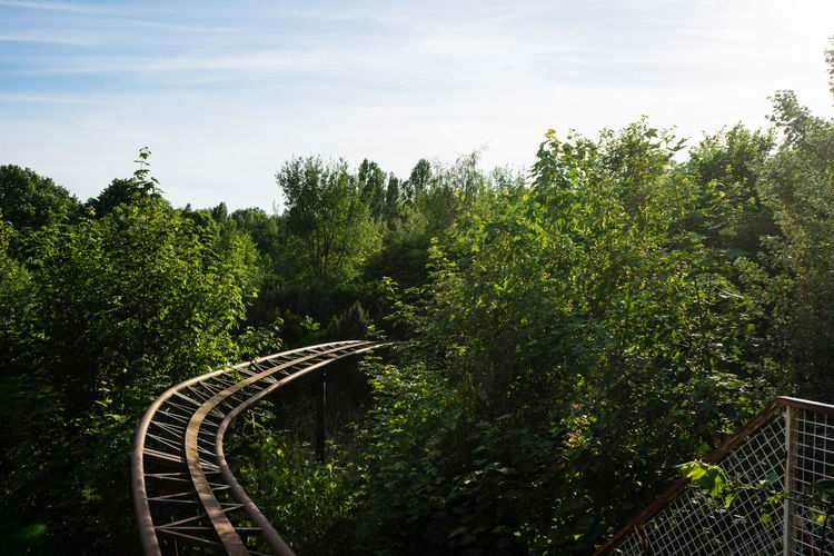 Tracks of a ride in an amusement park