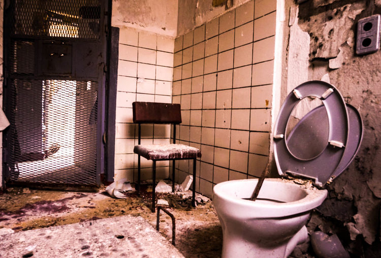 View of an abandoned bathroom