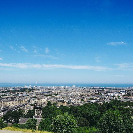Aerial view of Edinburgh from Calton Hill Aerial Shot Calton Hill City Cityscape Edinburgh Scotland Skyline Aerial Aerial View