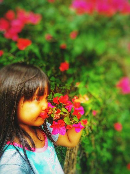 Flower Flower Child Childhood Girls Close-up First Eyeem Photo
