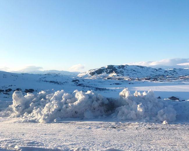 Midnight sun Scandinavia North Midnight Sun Mountain Winter Snow Frozen Scenics First Eyeem Photo