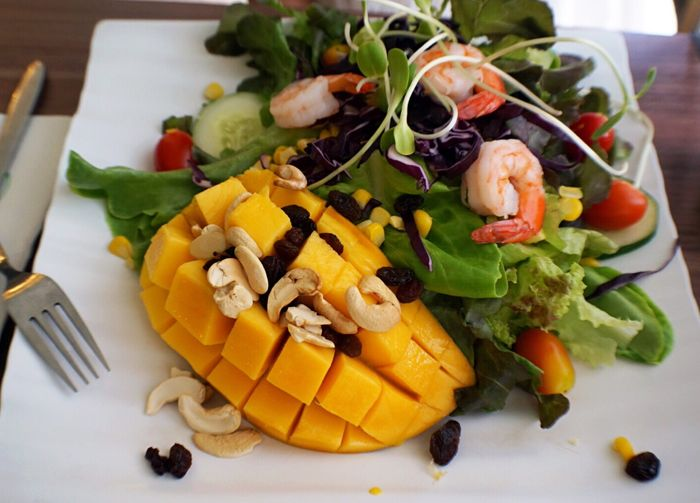 Happy New Year Food Beautiful Day Enjoying Life Happy Mango Vegetable Salad Love Nice 🍴❤