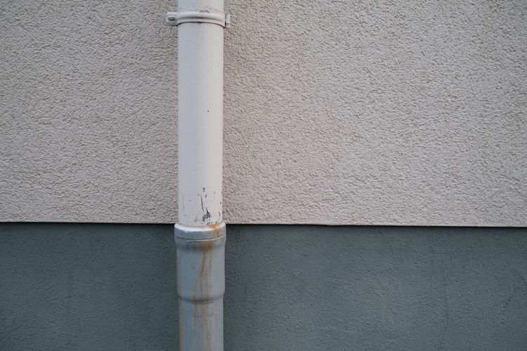Close-up of pipe on wall