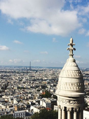 Architecture Built Structure Building Exterior Sky Cloud - Sky No People Dome Cityscape Day Outdoors City Nature View View From Above Sacre Coeur France Paris City Tourism Travel Destinations History Architecture Travel Sacré Coeur, Paris Place Of Worship