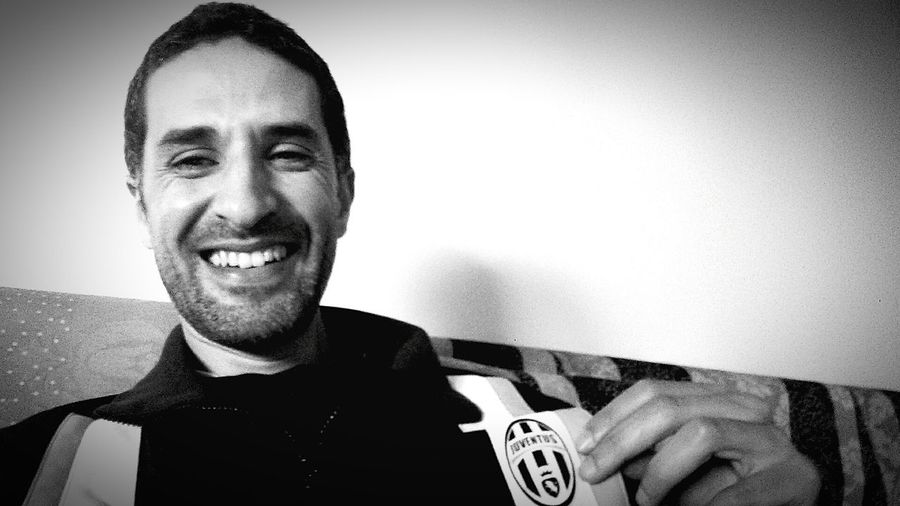 Juventus Fan Forza JUVE Champions League Oujda Morocco Monochrome Black And White Juventus B&W Portrait