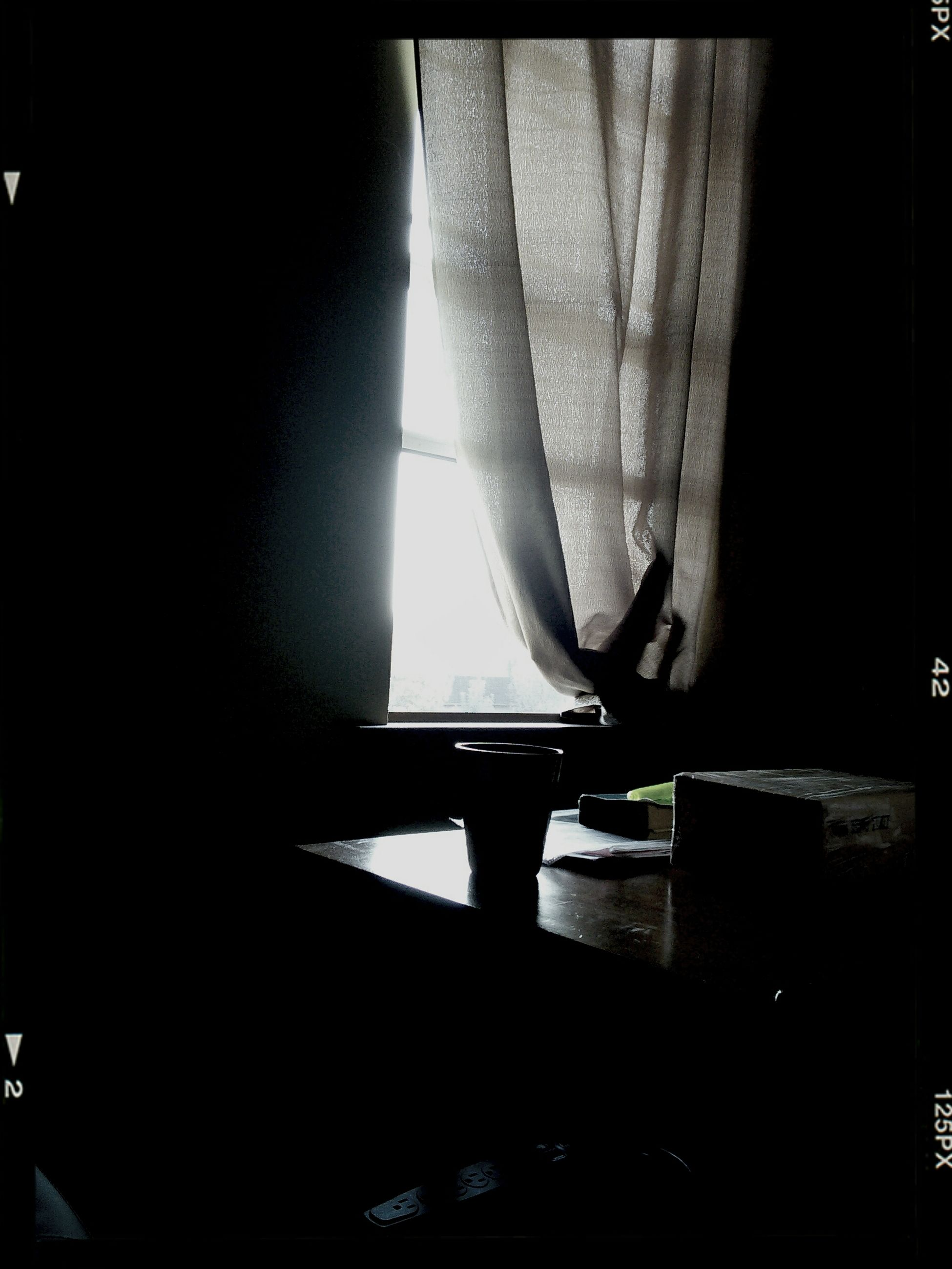 indoors, dark, illuminated, silhouette, window, night, lighting equipment, home interior, sunlight, shadow, light - natural phenomenon, no people, glass - material, transparent, close-up, reflection, curtain, light, auto post production filter, darkroom