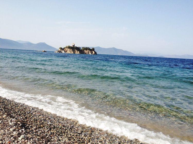 Endless Blue Beach And Sky Small Island Oreoi Evia Neos Pyrgos, Evia Summer Views Relaxing Moments Waves Greece Miles Away BYOPaper!