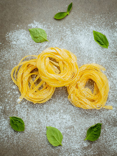 Close-Up Of Raw Pasta