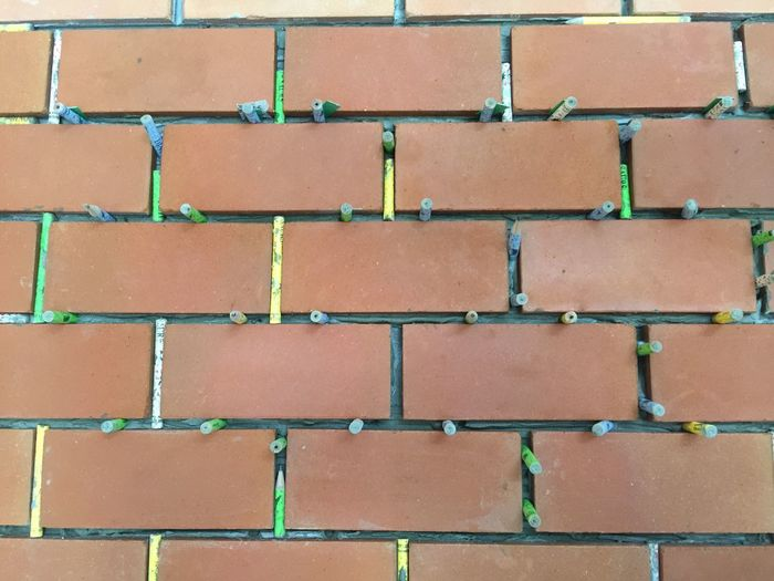 Tiling Full Frame In A Row Backgrounds No People Repetition Day Outdoors brick wall Brick Wall Architecture Pattern