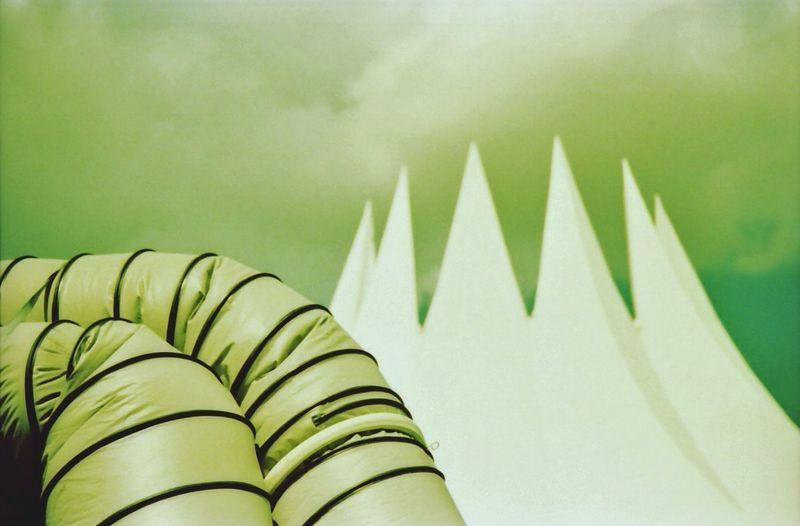 Close-up Of Inflatable Equipment Against Tempodrom