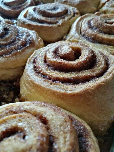 Yummy cinnamon rolls Dessert Bakery Baked Close-up Sweet Food Food And Drink