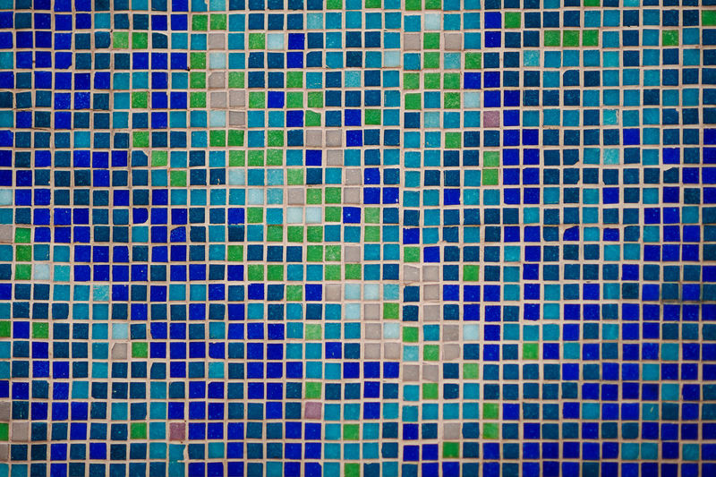 Abstract Architecture Backgrounds Bathroom Blue Built Structure Close-up Day Full Frame Mosaic Multi Colored No People Outdoors Pattern Pixelated Swimming Pool Textured  Tile