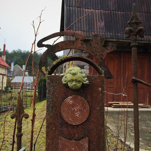 Vintage gate detail Ancient Antique Art Artistic Decor Design Detail Doors Entrance Fence Gate House Iron Metal Old Ornament Ornaments Pattern Retro Rust Rusted Spike Steel Style Vintage