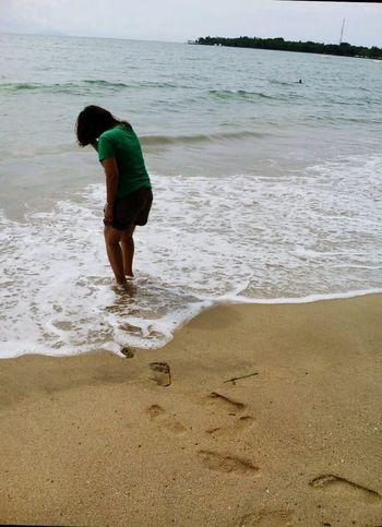 Camera Phone Beach Sand Water Sea Vacations Travel Destinations Morning View Leisure Activity People Carita Beach 2017