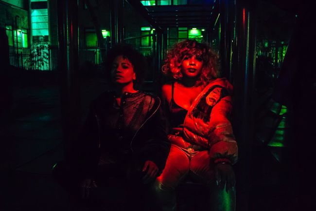 LOYALTY. Black Girls Loyalty Kendrick Lamar Damn. Night Two People Real People Lifestyles Leisure Activity Looking At Camera Illuminated Togetherness Young Women Outdoors Young Adult Neon Portrait Red Women