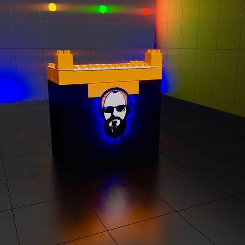 Pinchadiscos set, DJ Dj Set Dj Booth Disco Escenografia Music Dj Wall - Building Feature Architecture Flooring Night Illuminated Communication No People