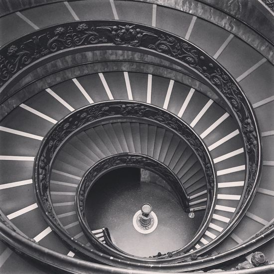 Vatican Stairs Vatican VaticanCity Lovephotography  Taking Photos Photography Seeing The Sights Iphoto IPhone Iphotography IPhoneography RomanHoliday Italy Roma Rome Blackandwhite