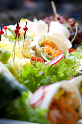 Buffet Cheese Close-up Depth Of Field Fingerfood Food Food And Drink Freshness Healthy Eating Healthy Lifestyle Indoors  Karotten Meal Plate Ready-to-eat Salad Salad Still Life Table Vegetable Wrapped