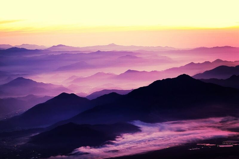 Dawn From Mt. Fuji , Japan