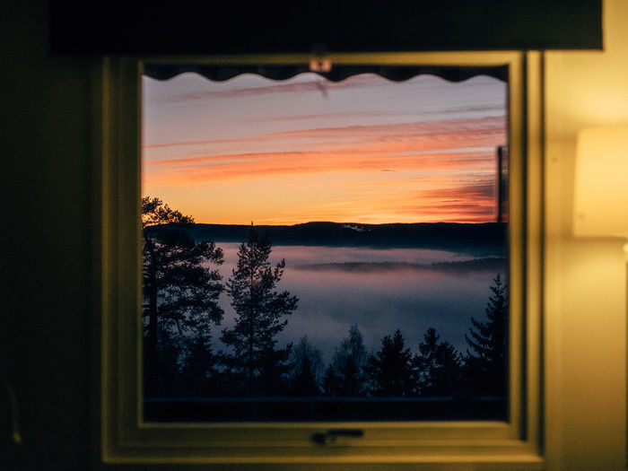 Basic Morning view 35mm Beauty In Nature Close-up Cloud - Sky Curtain Day EyeEm Best Shots EyeEm Gallery EyeEm Nature Lover Indoors  Landscape Nature No People Norway Photography Scenics Sky Softness Sunrise Sunset Tree Week On Eyeem Window