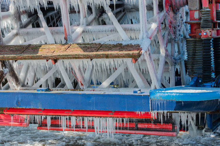 Paddle wheeler Louisiana Star is iced in Hamburg Elbreedery Frozen Hamburg Iced Up Louisiana Star Paddle Wheeler Rear Wheel Steamboat Winter Attraction Bicycle Steamboat Floes Hamburger Harbour Harbour Round Trip Low Waters Pack Ice Passenger Liner Place Of Interest River Ship Ship Traffic Shovel Wheel Steamboat The Elbe Water