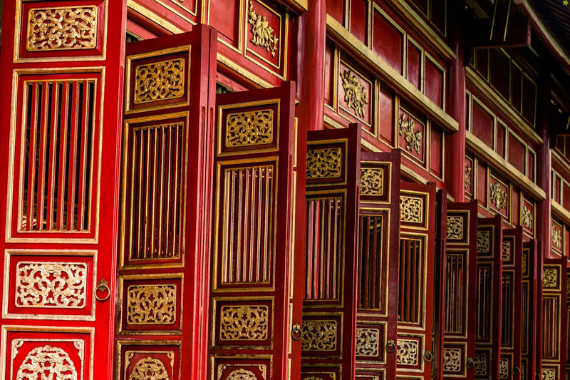 Imperial doors. Hue, Vietnam. Red Architecture Wood - Material Doors Doorporn Vietnam Hue, Vietnam Huế Central Vietnam Imperial Palace WeekOnEyeEm EyeEm Gallery Travel Destinations Eye4photography  Check This Out Bestoftheday EyeEm Best Shots Exceptional Photographs Malephotographerofthemonth Travel Photography Beautifully Organized Entrance