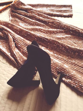 Everything ready for party. Happy 2017!! Party Dress Shoes Clothes Glitter Glitter & Sparkle No People Close-up Womenswear Fashion Party Joy