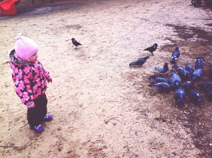 Доча гоняла голубей First Eyeem Photo