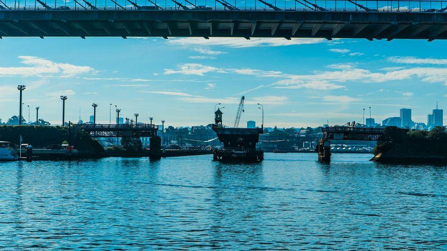 Under ANZAC Bridge lies a couple of flood gates.@Sony A7s